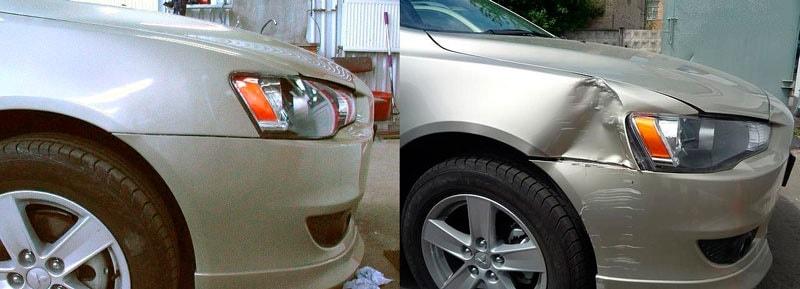 Фото до и после кузовного ремонта крыла авто