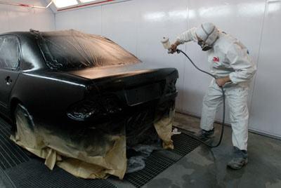 фото процесс покраски автомобиля