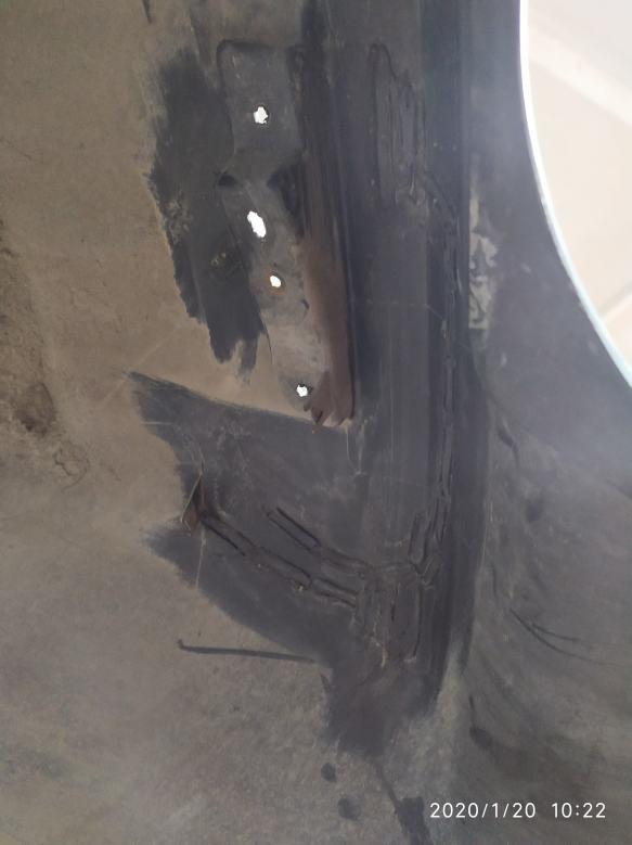Фото процесса ремонта бампера
