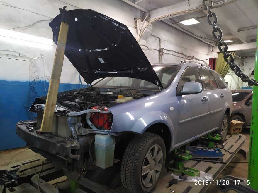 Фото процесса кузовного ремонта