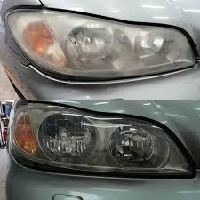 Фото фары до и после полировки