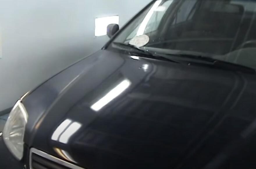 Фото автомобиля перед полированием