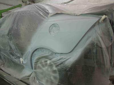 Фото процесса покраски крыла